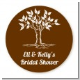 Fall Tree - Round Personalized Bridal Shower Sticker Labels thumbnail