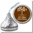 Fall Tree - Hershey Kiss Bridal Shower Sticker Labels thumbnail