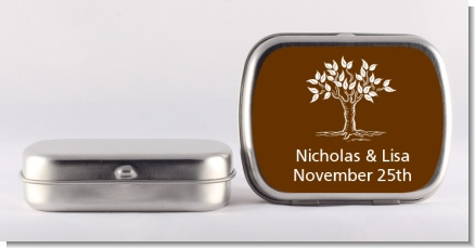 Fall Tree - Personalized Bridal Shower Mint Tins