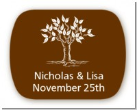 Fall Tree - Personalized Bridal Shower Rounded Corner Stickers