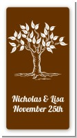 Fall Tree - Custom Rectangle Bridal Shower Sticker/Labels
