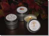 Candle Tins Mini Soy Travel Size - Fall Wedding Favors