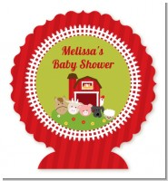 Farm Animals - Personalized Baby Shower Centerpiece Stand