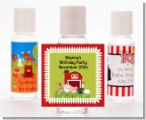 Farm Animals - Personalized Birthday Party Hand Sanitizers Favors