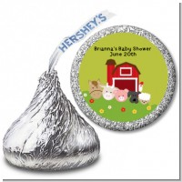 Farm Animals - Hershey Kiss Baby Shower Sticker Labels