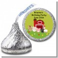 Farm Animals - Hershey Kiss Birthday Party Sticker Labels thumbnail