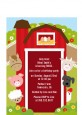 Farm Animals - Birthday Party Petite Invitations thumbnail