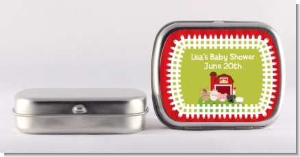 Farm Animals - Personalized Baby Shower Mint Tins