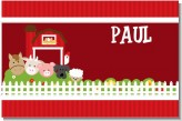 Farm Animals - Personalized Birthday Party Placemats