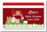 Farm Animals - Baby Shower Landscape Sticker/Labels