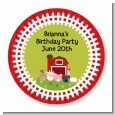 Farm Animals - Round Personalized Birthday Party Sticker Labels thumbnail