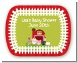Farm Animals - Personalized Baby Shower Rounded Corner Stickers thumbnail