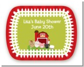 Farm Animals - Personalized Baby Shower Rounded Corner Stickers