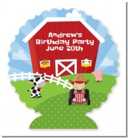 Farm Boy - Personalized Birthday Party Centerpiece Stand