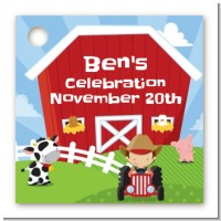 Farm Boy - Personalized Birthday Party Card Stock Favor Tags