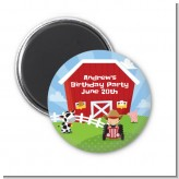 Farm Boy - Personalized Birthday Party Magnet Favors