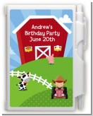 Farm Boy - Birthday Party Personalized Notebook Favor