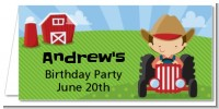 Farm Boy - Personalized Birthday Party Place Cards