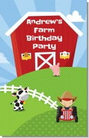 Farm Boy - Personalized Birthday Party Wall Art