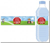 Farm Boy - Personalized Birthday Party Water Bottle Labels