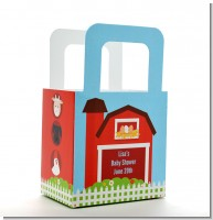Farm Animals - Personalized Baby Shower Favor Boxes