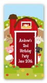 Farm Animals - Custom Rectangle Birthday Party Sticker/Labels