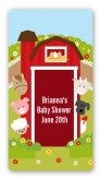 Farm Animals - Custom Rectangle Baby Shower Sticker/Labels
