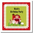Farm Animals - Personalized Birthday Party Card Stock Favor Tags thumbnail