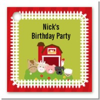 Farm Animals - Personalized Birthday Party Card Stock Favor Tags