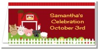 Farm Animals - Personalized Baby Shower Place Cards