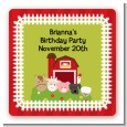 Farm Animals - Square Personalized Birthday Party Sticker Labels thumbnail