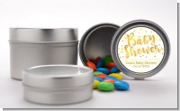 Faux Gold and Yellow Stripes - Custom Baby Shower Favor Tins