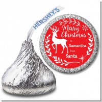 Festive Antlers - Hershey Kiss Christmas Sticker Labels