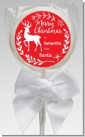 Festive Antlers - Personalized Christmas Lollipop Favors