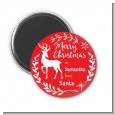 Festive Antlers - Personalized Christmas Magnet Favors thumbnail