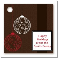 Festive Ornaments - Personalized Christmas Card Stock Favor Tags