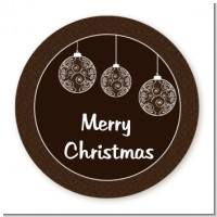 Festive Ornaments - Round Personalized Christmas Sticker Labels
