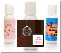 Festive Ornaments - Personalized Christmas Lotion Favors