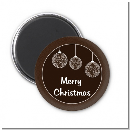 Festive Ornaments - Personalized Christmas Magnet Favors