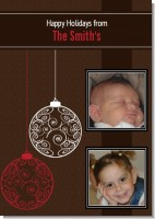 Festive Ornaments - Personalized Photo Christmas Cards