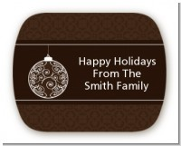 Festive Ornaments - Personalized Christmas Rounded Corner Stickers