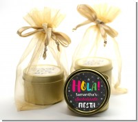 Fiesta - Bridal Shower Gold Tin Candle Favors