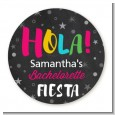 Fiesta - Round Personalized Bridal Shower Sticker Labels thumbnail