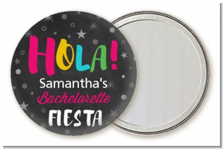 Fiesta - Personalized Bridal Shower Pocket Mirror Favors