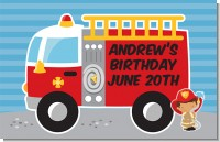 Future Firefighter - Personalized Birthday Party Placemats