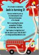Fire Truck - Birthday Party Invitations thumbnail