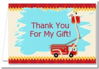 Fire Truck - Birthday Party Thank You Cards
