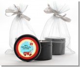 Fire Truck - Birthday Party Black Candle Tin Favors