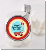 Fire Truck - Personalized Baby Shower Candy Jar