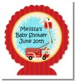 Fire Truck - Personalized Baby Shower Centerpiece Stand thumbnail